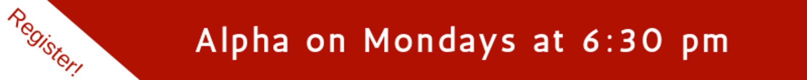Alpha on Mondays