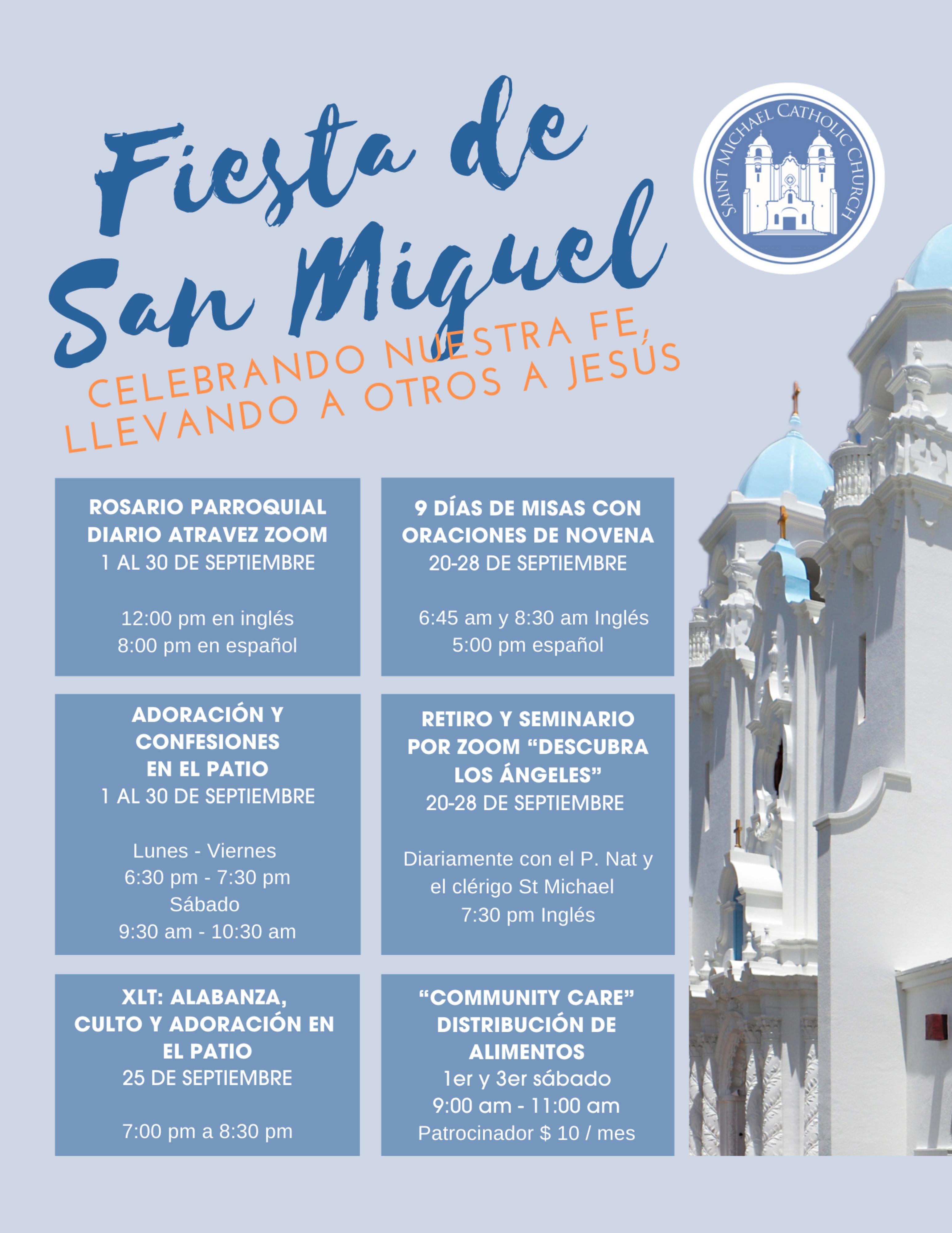 Feast Of St Michael Flier 2020 Final Spanish