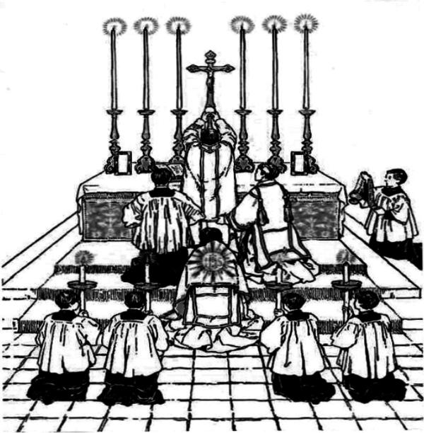 Latin Mass Drawing
