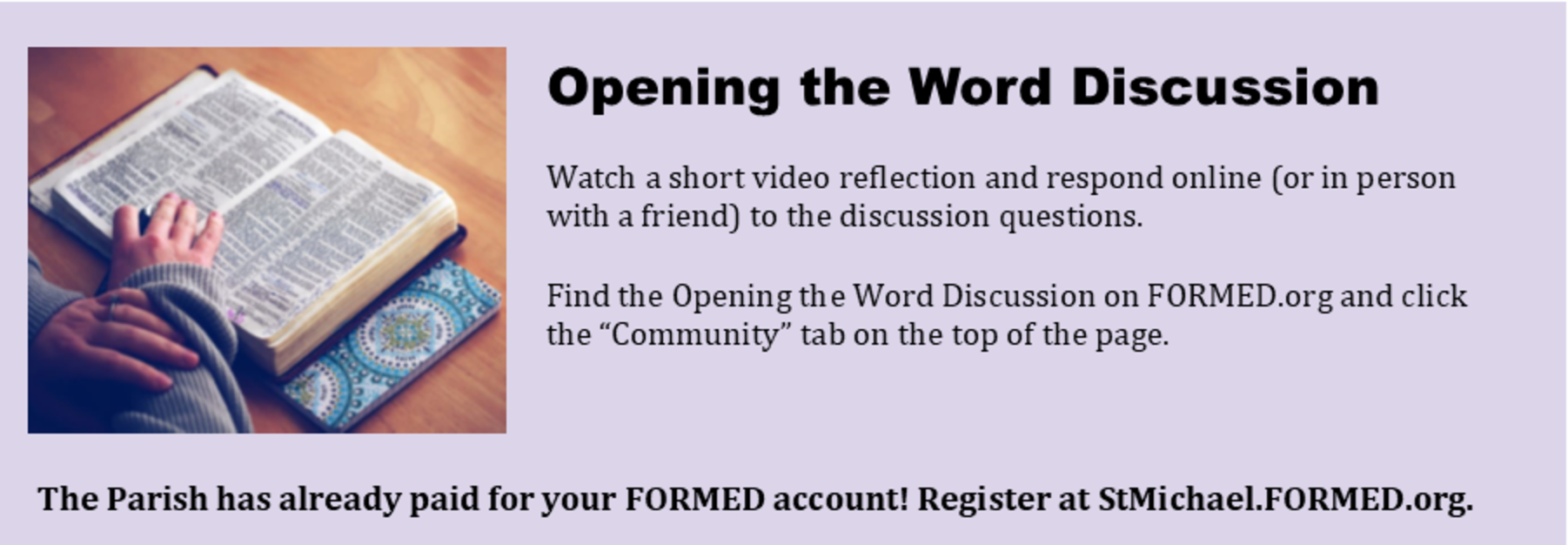 Opening the Word Discussion
