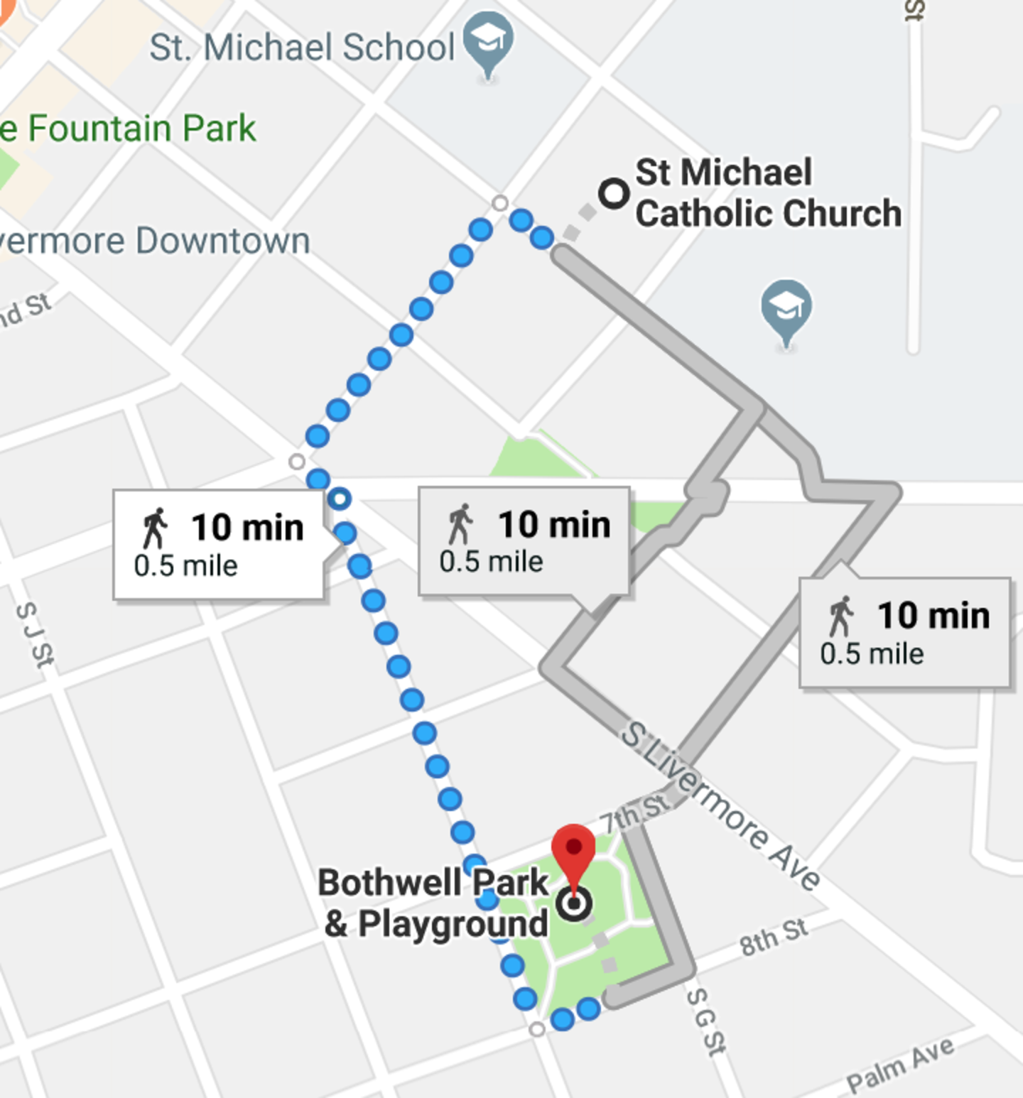 St Michael Catholic Church To Bothwell Park Playground Google Maps