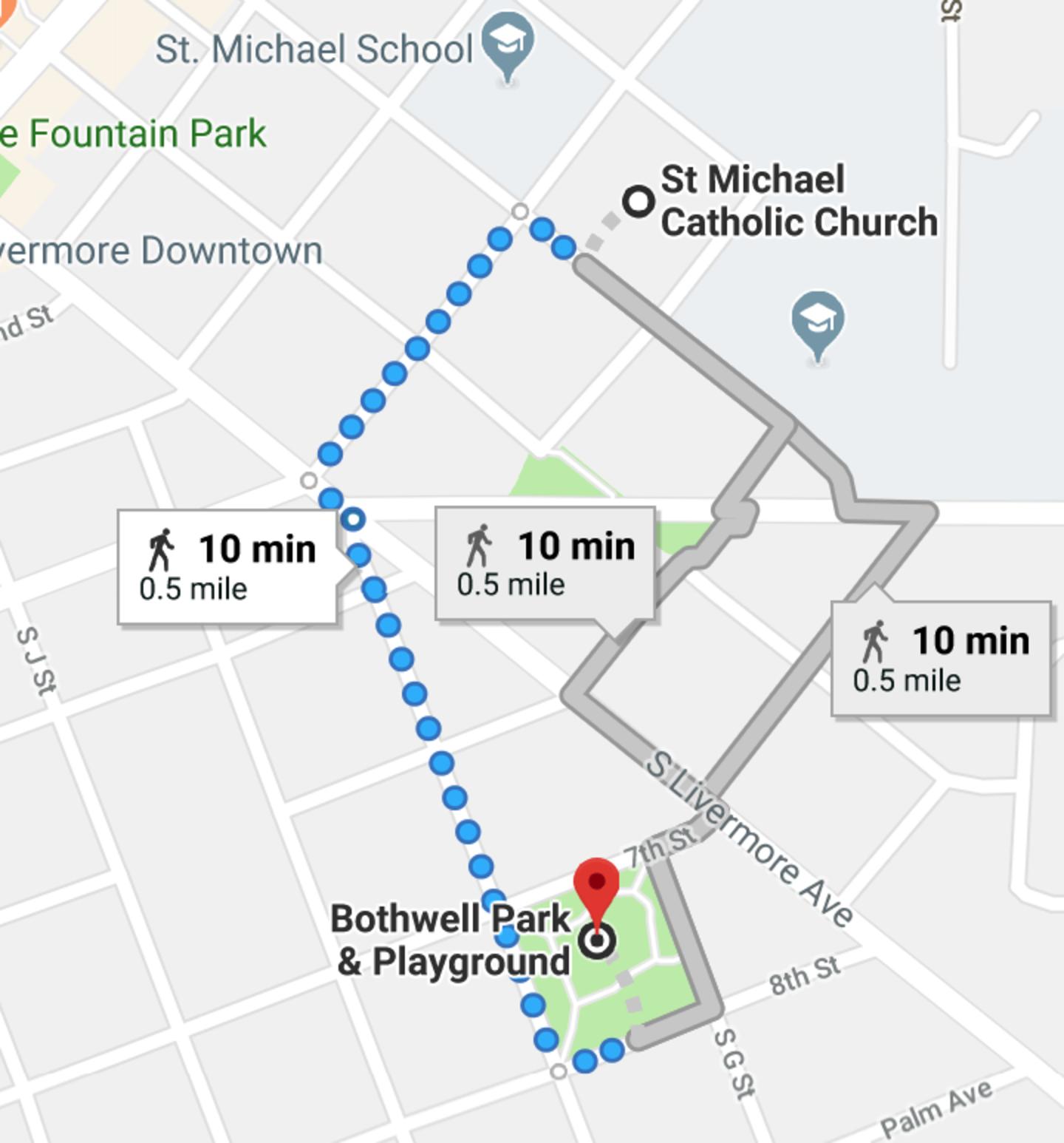 St Michael Catholic Church To Bothwell Park Playground Google Maps