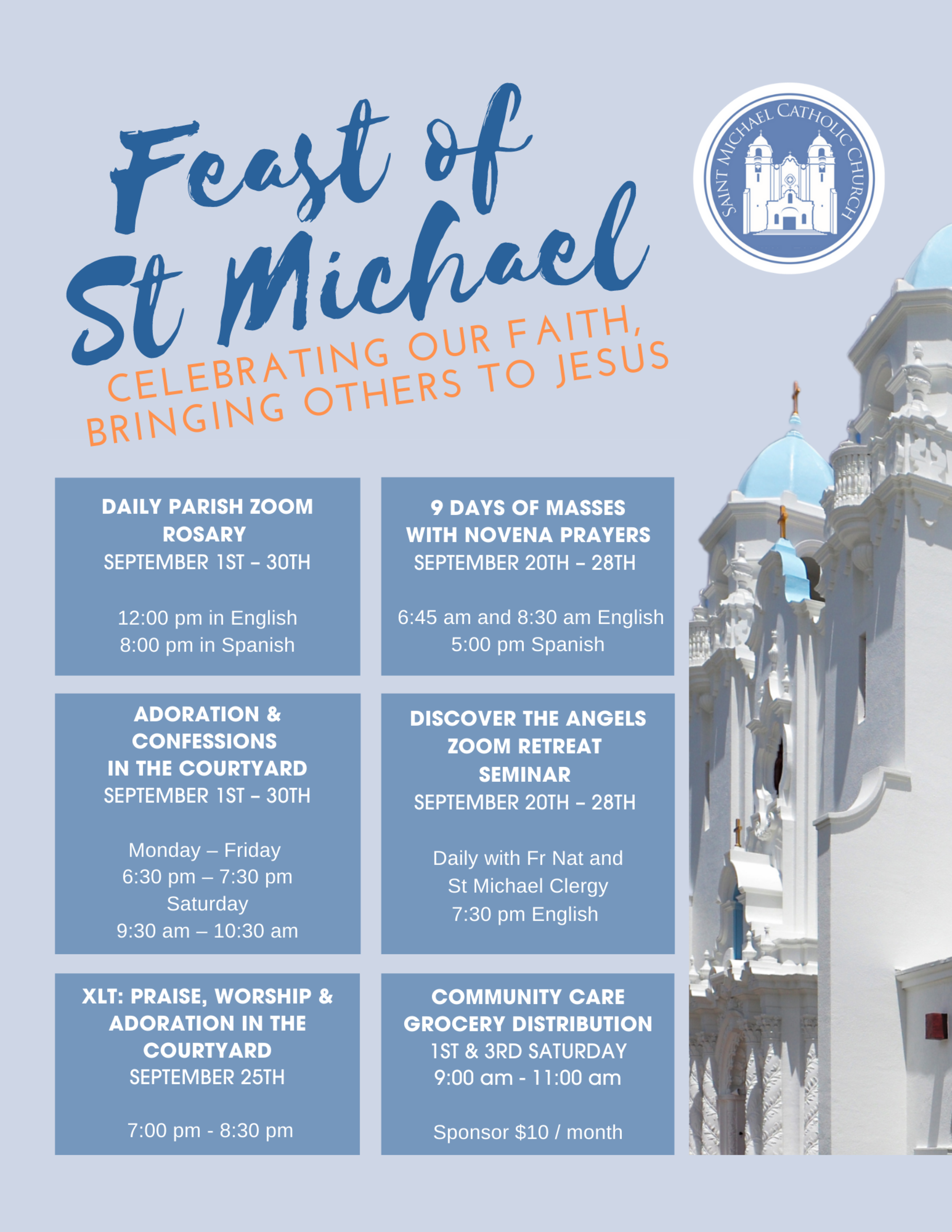 Feast Of St Michael Flier 2020 Final English