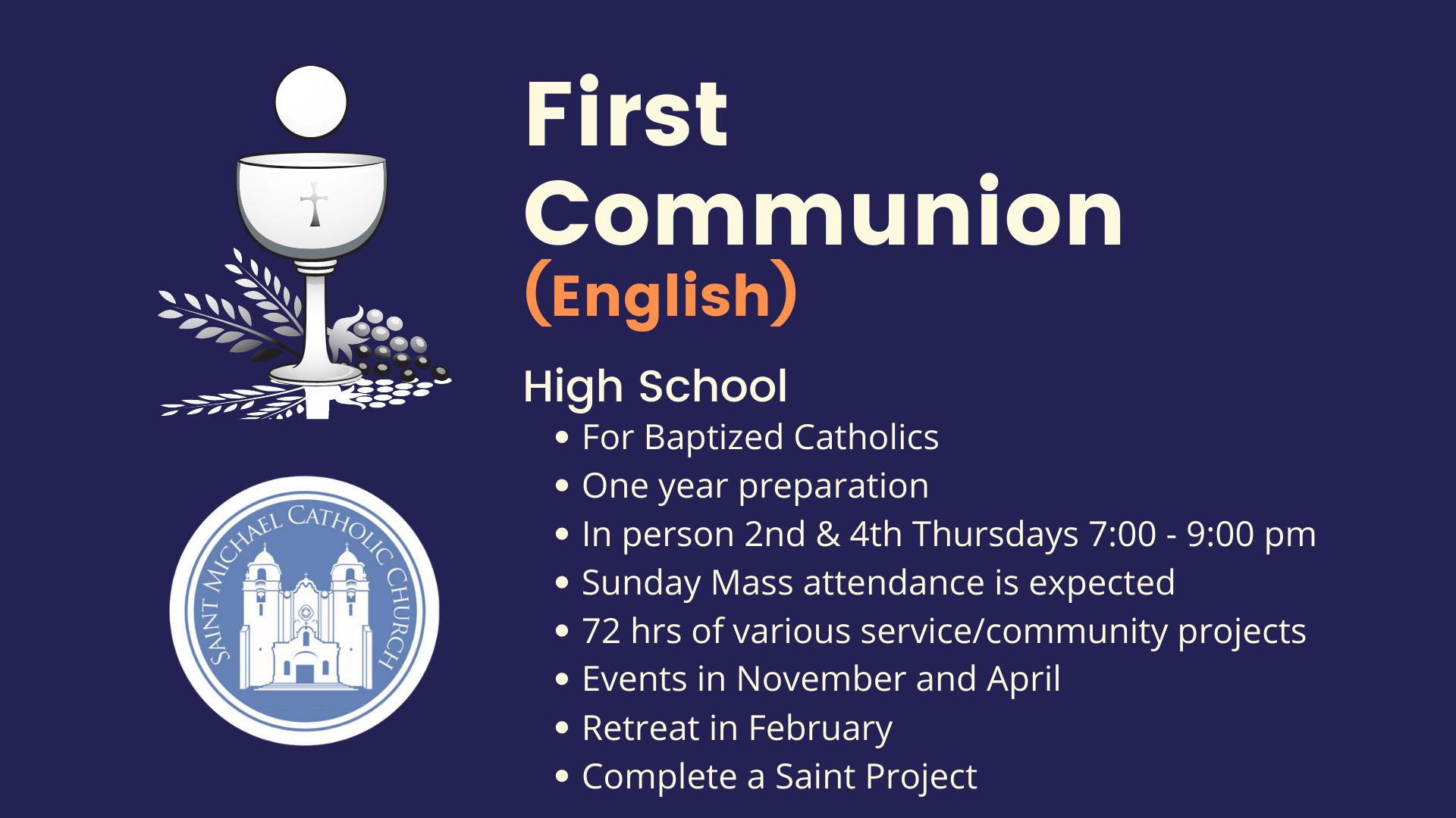 First Communion Highschool Updated