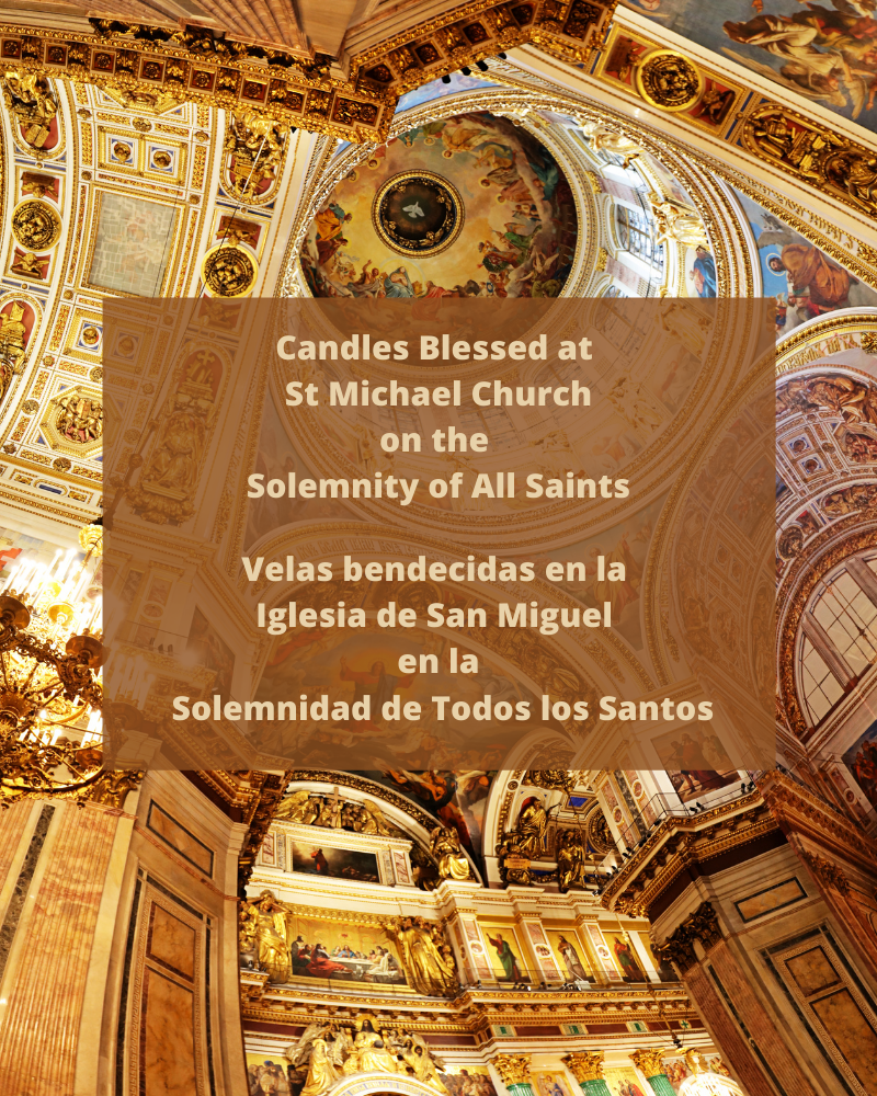Candles Blessed On The Solemnity Of All Saints Bilingualpng