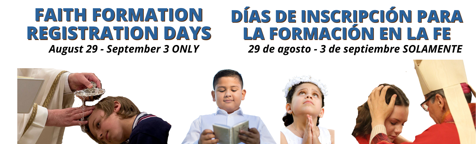 Faith Formation Registration Days Home Page