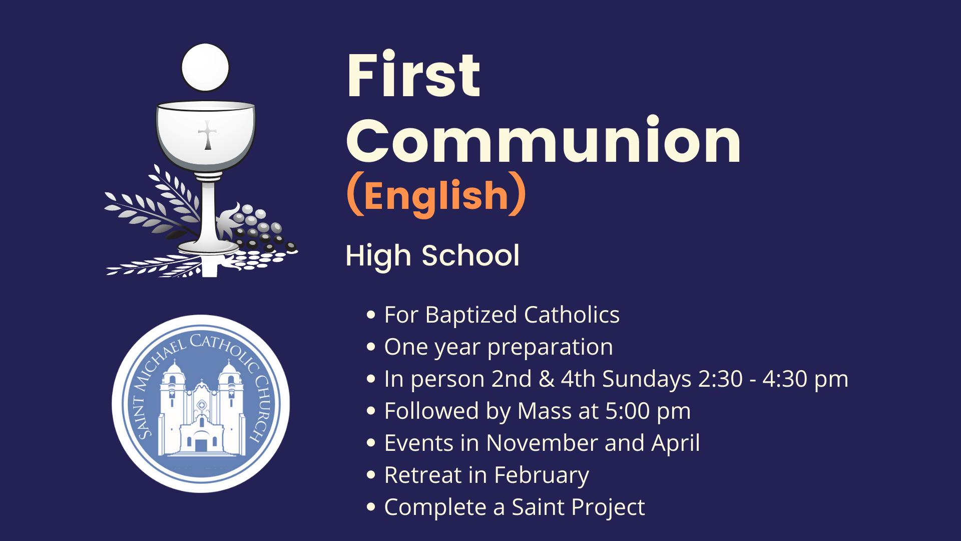 First Communion English High School