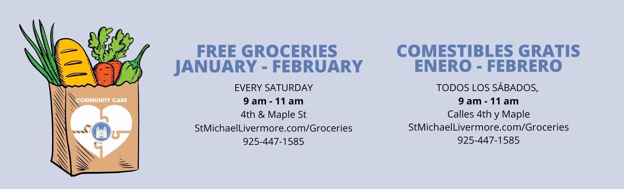 Free Groceries January February