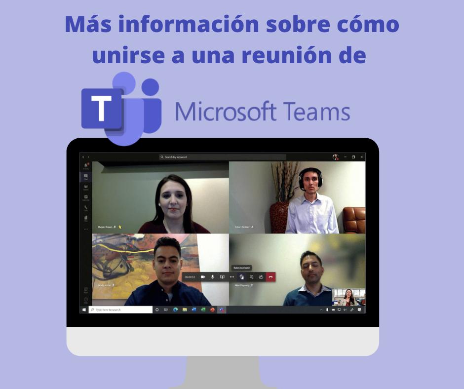 Mas Informacion Sobre Como Unirse A Una Reunion De Microsoft Teams