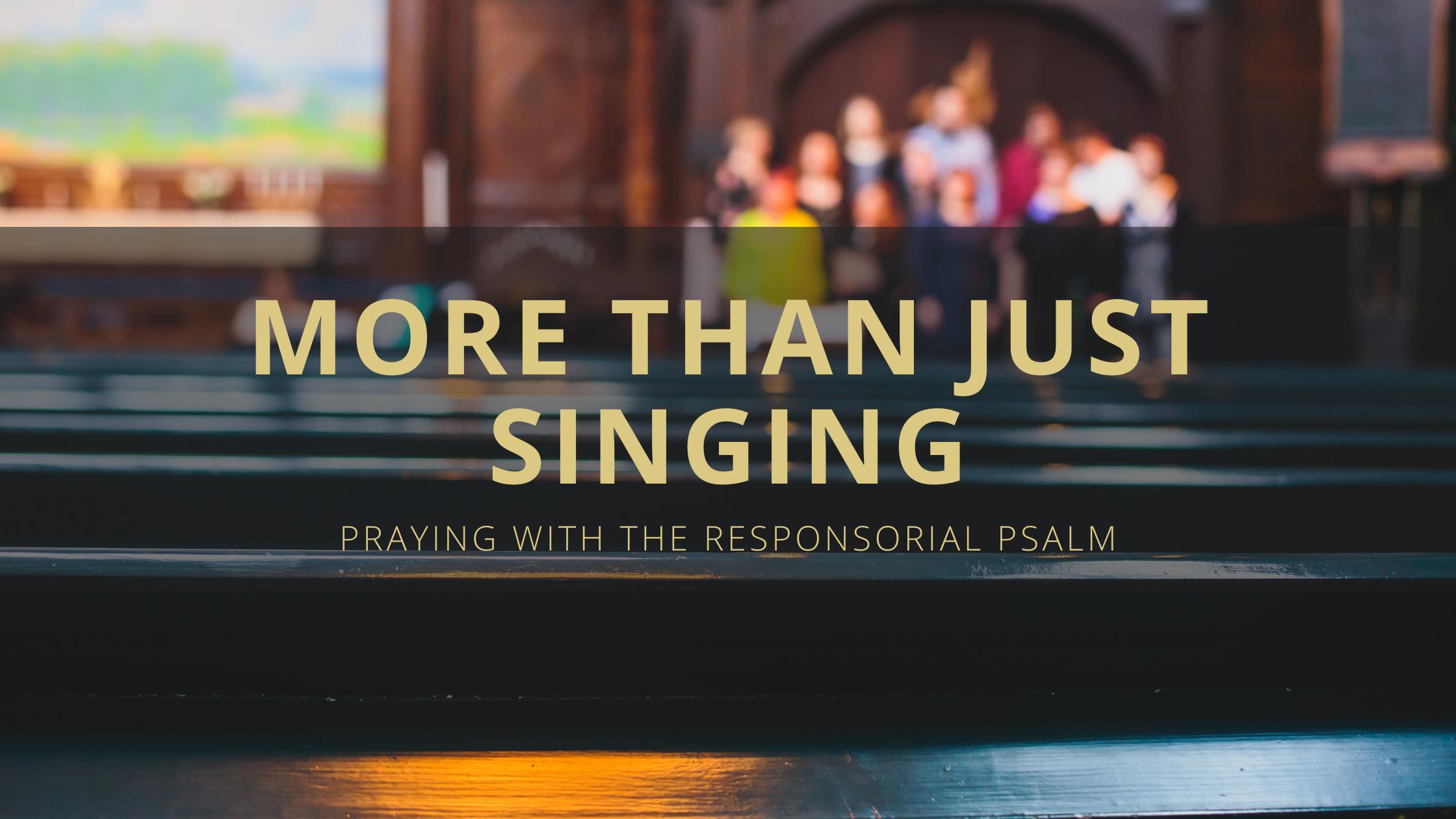 More Than Just Singing