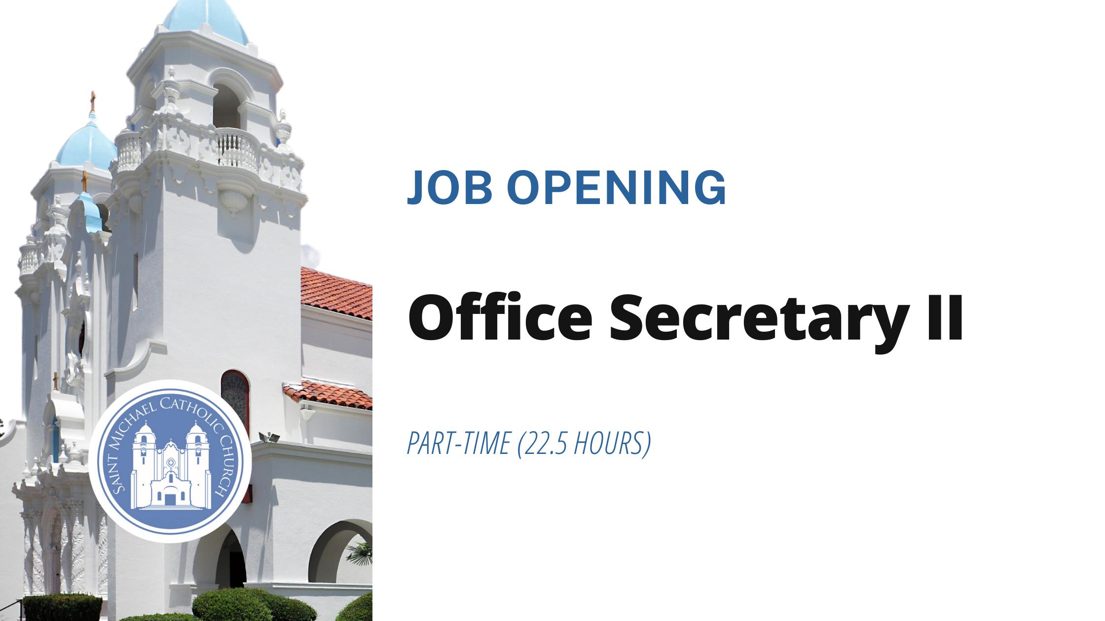 Office Secretary Job Opening