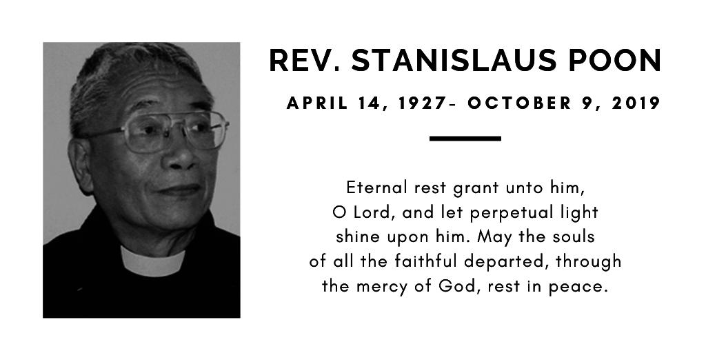 Rev. Stanislaus Poon