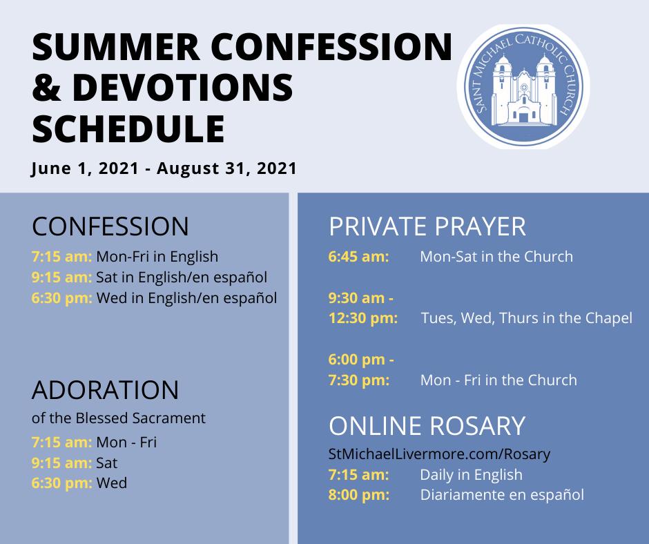 Summer Schedule 2021 Revised