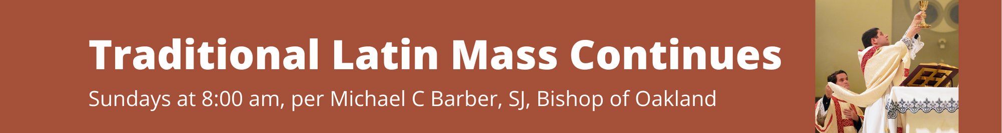 Traditional Latin Mass Continues Banner