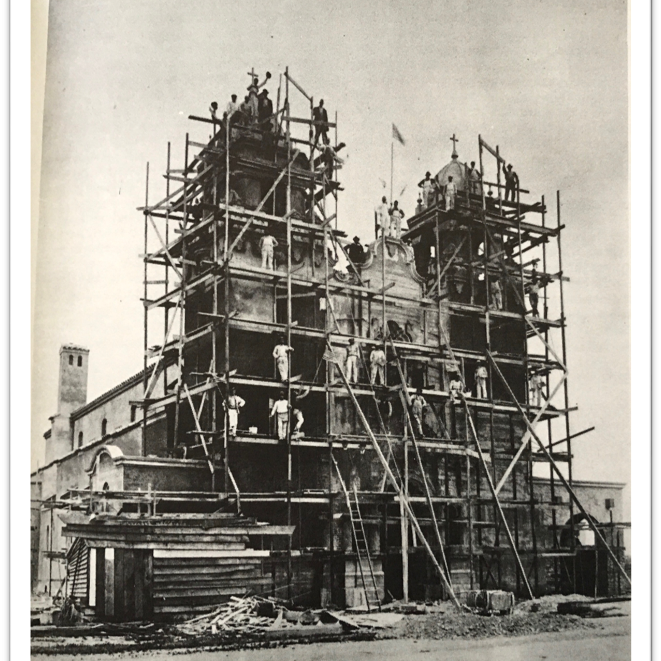 1918 Church With Scaffolding