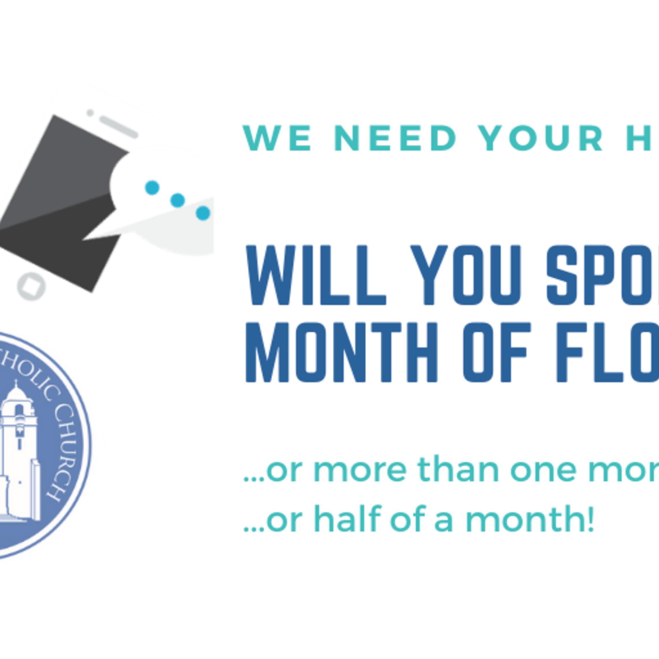 Sponsor A Month Of Flocknote