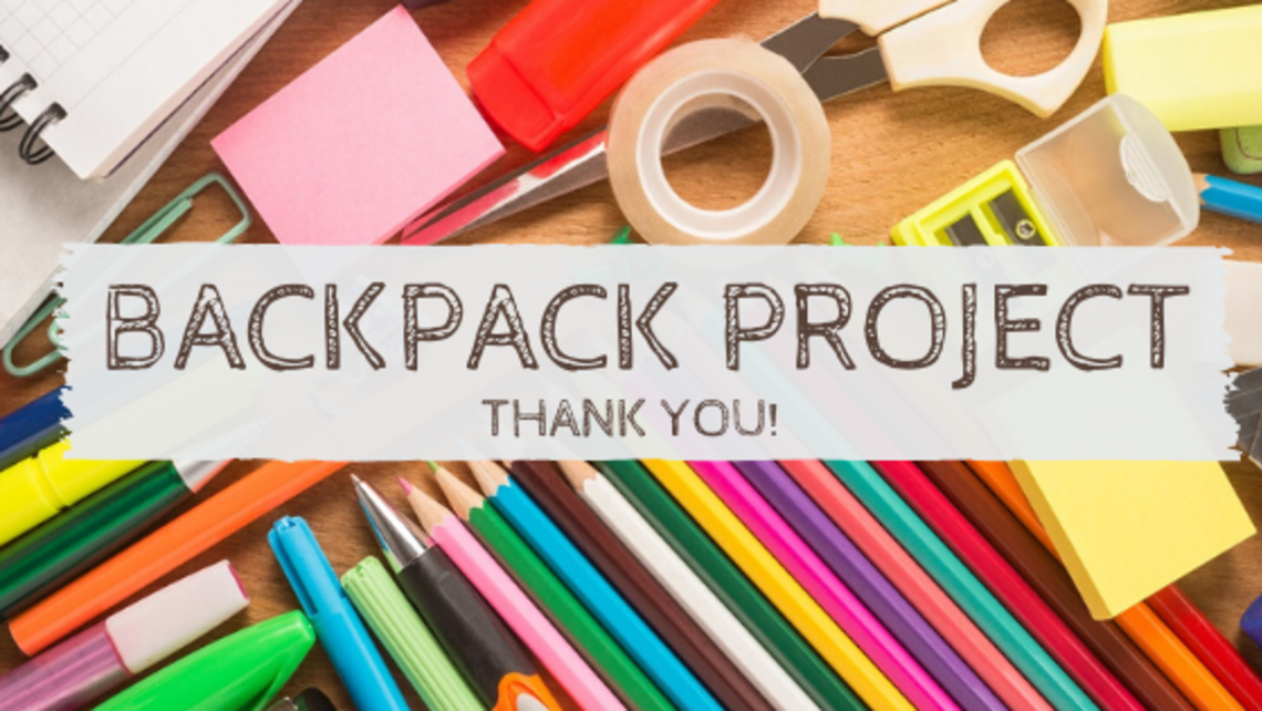 Backpack Project Thank You   Blog Header