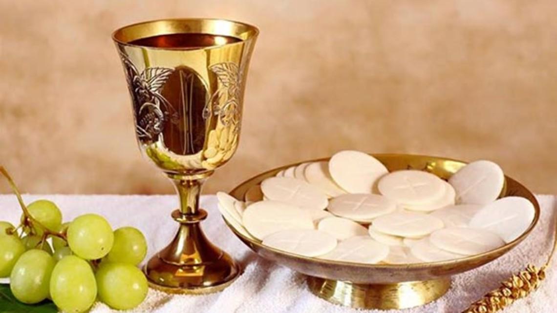 Eucharist Bread And Wine