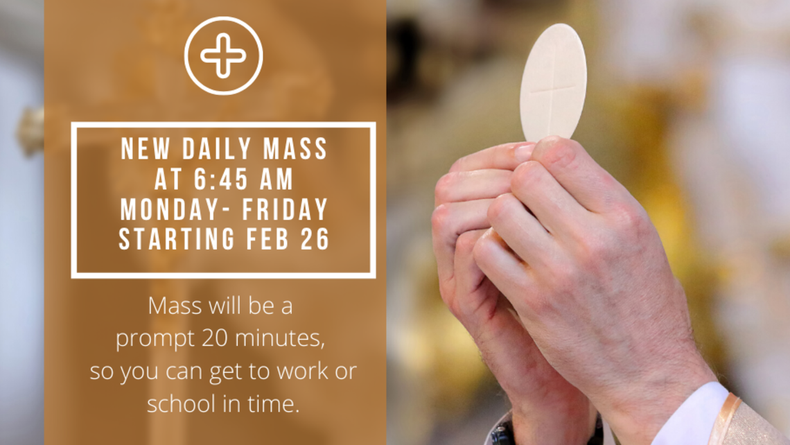 Extra Daily Mass During Lent   Twitter