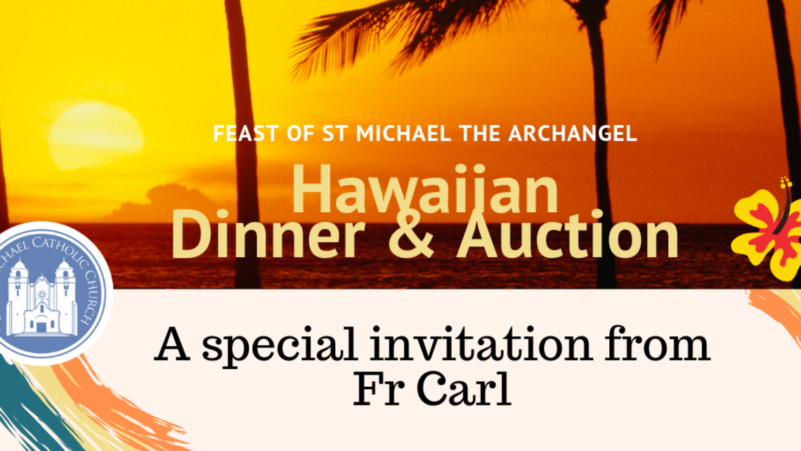 Hawaiian Dinner Auction   Fr Carls Invitation