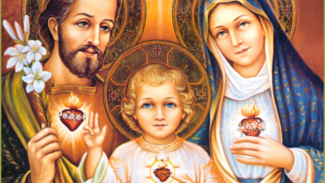 Holy Family Three Hearts