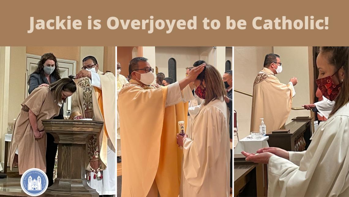 Jackie Is Overjoyed To Be Catholic