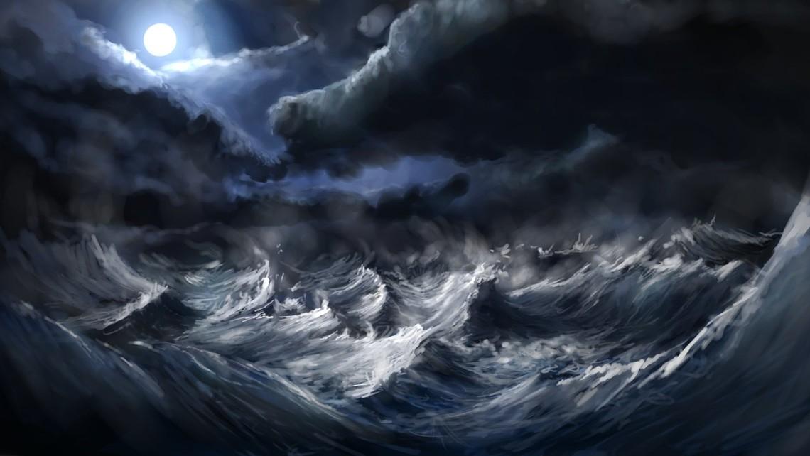 Jesus Stormy Sea