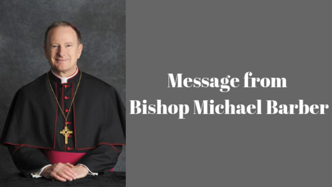 Message From Bishop Michael Barber