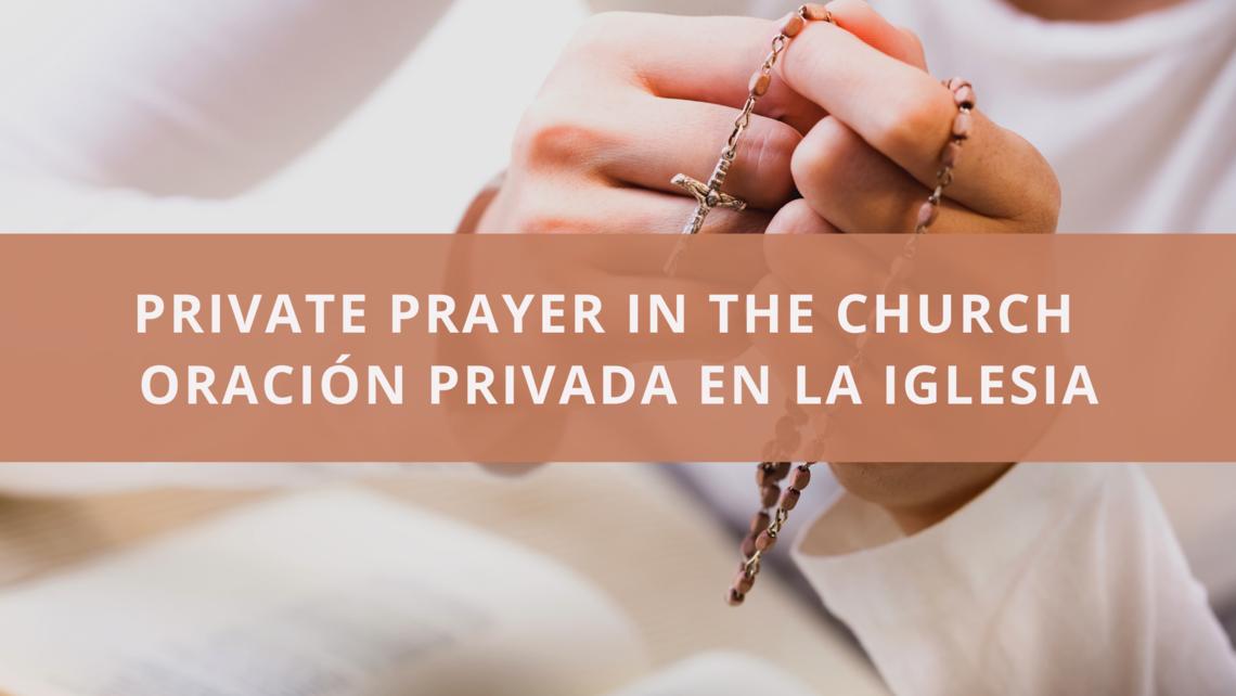 Private Prayer In The Church
