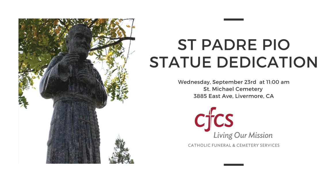 St Padre Pio Dedication