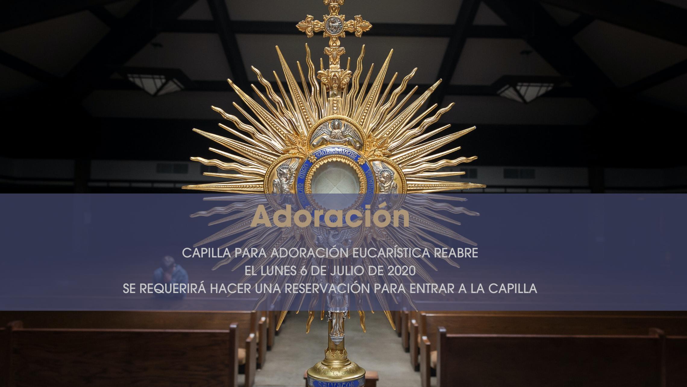 Adoration Chapel Reopens - Spanish