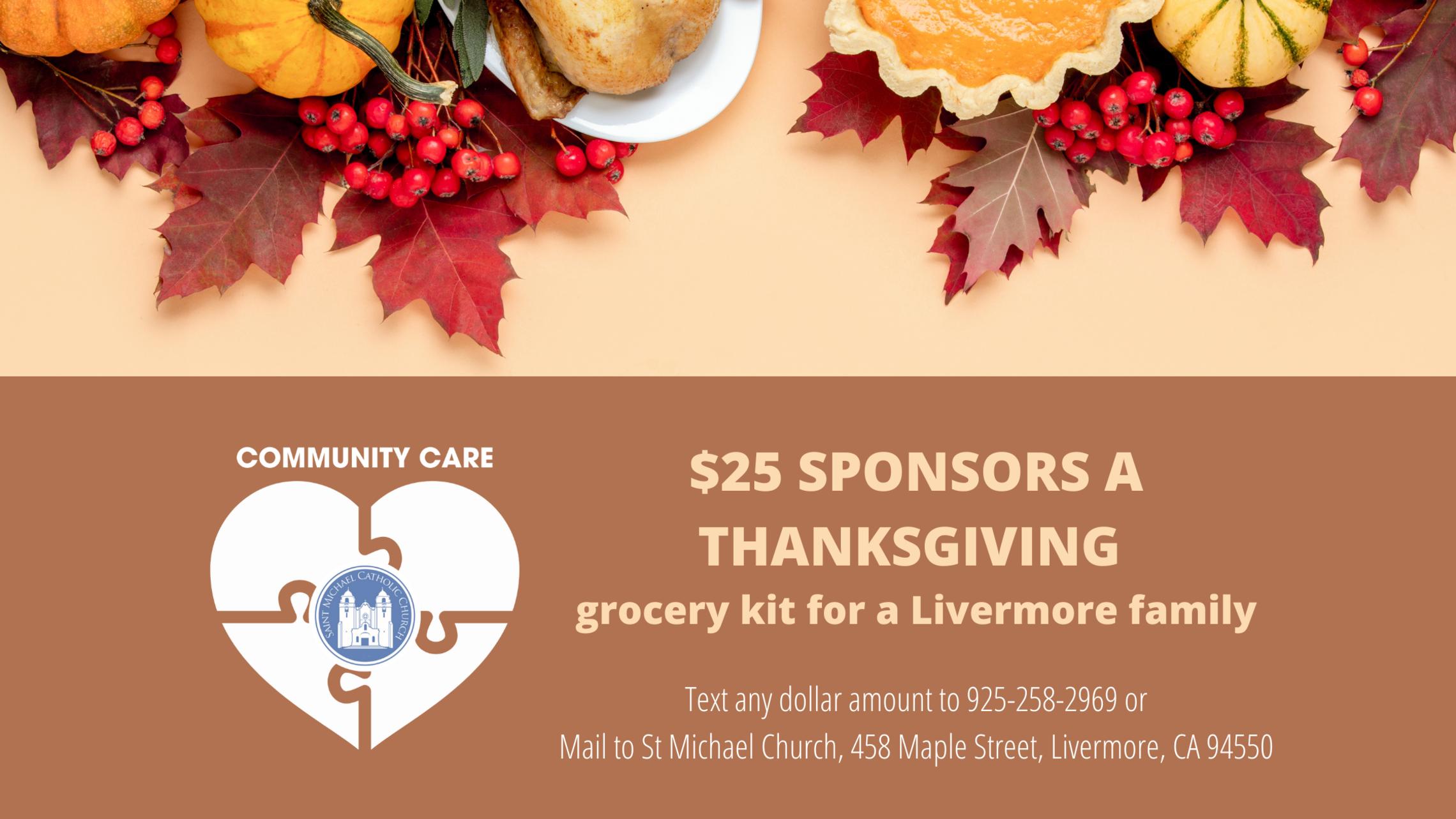 Sponsor A Thanksgiving Grocery Kit   Blog