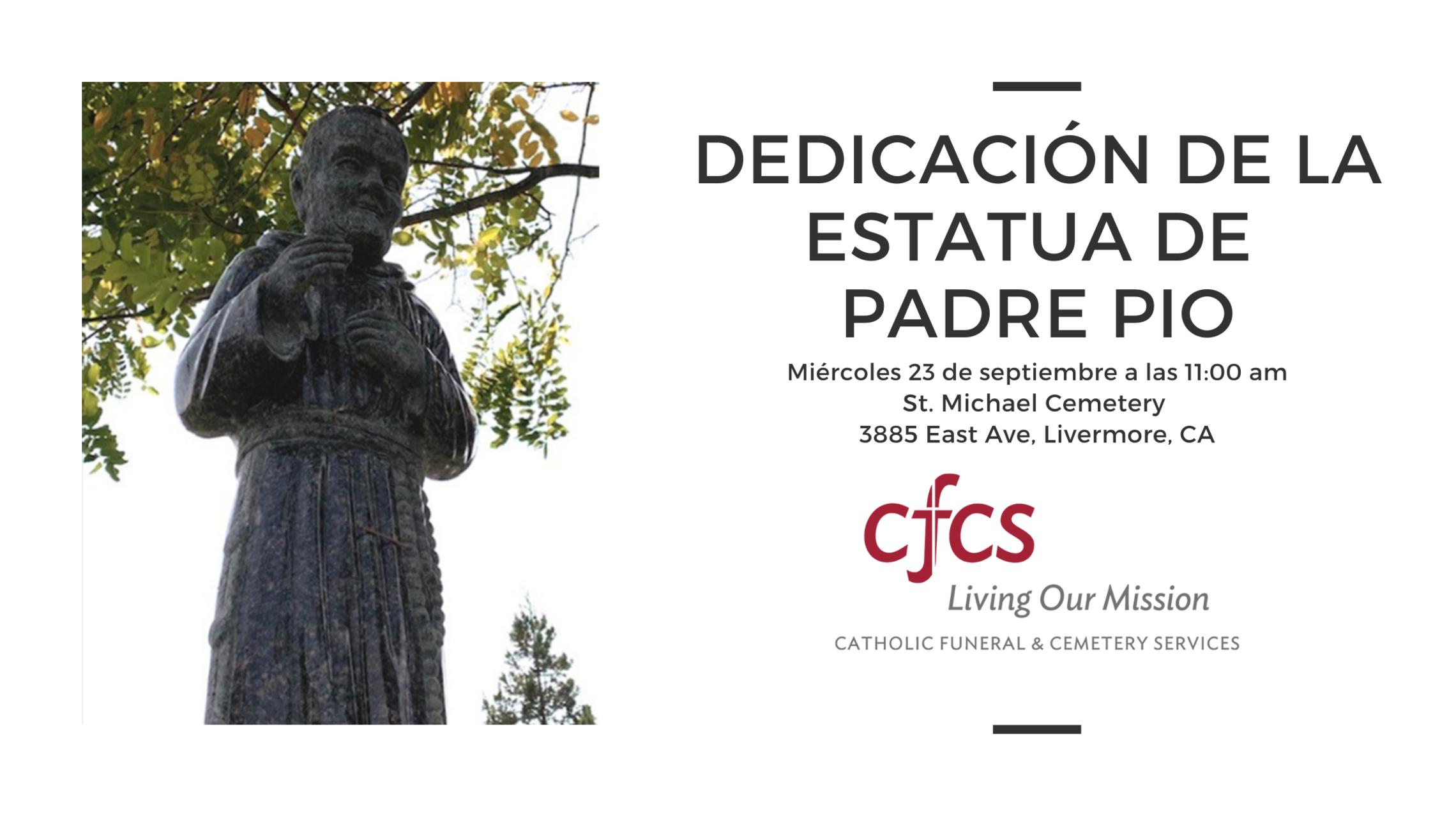 St Padre Pio Dedication Spanish