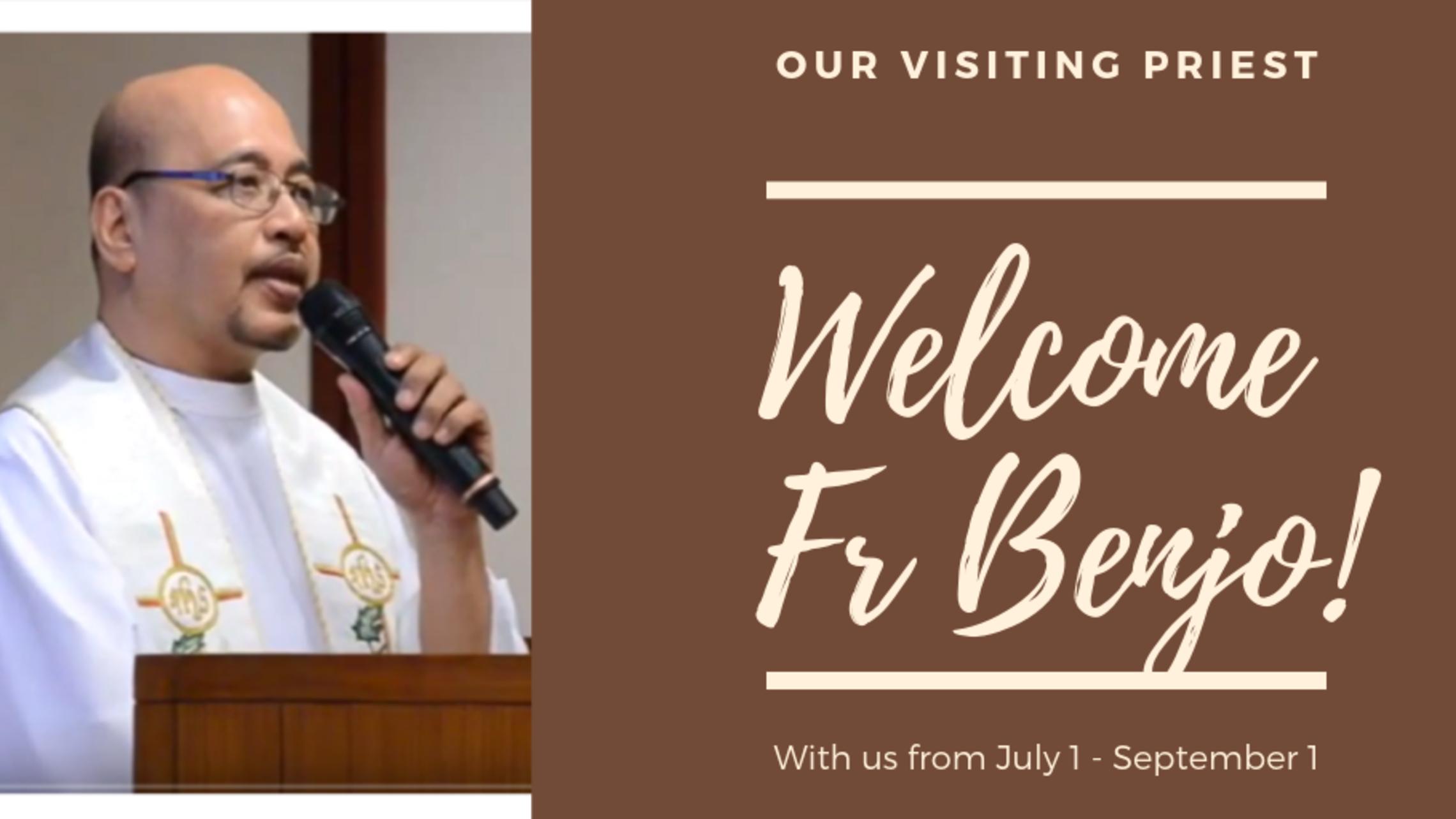 Welcome Fr Benjo   Twitter