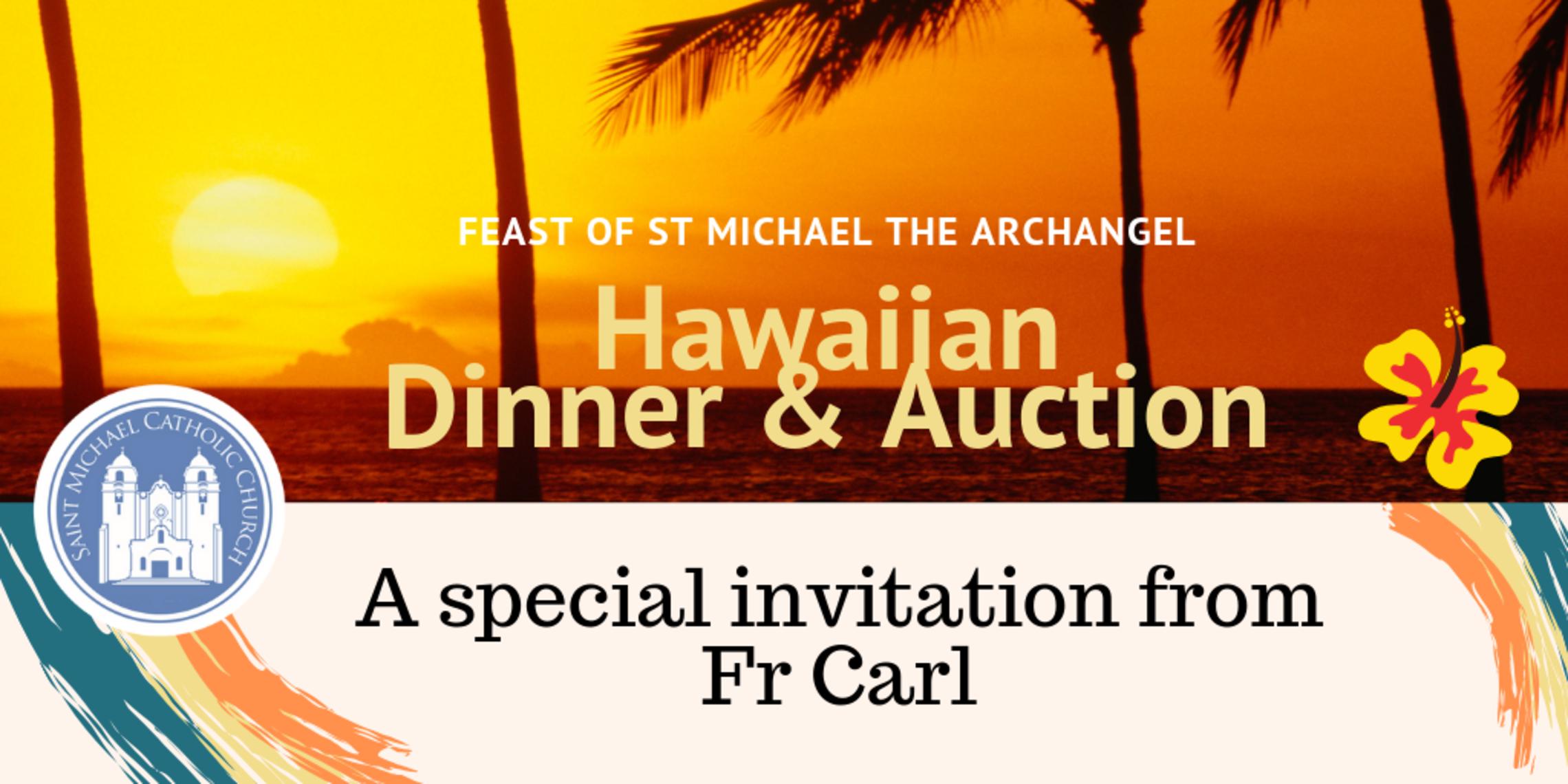 Hawaiian Dinner Auction   Fr Carls Invitation