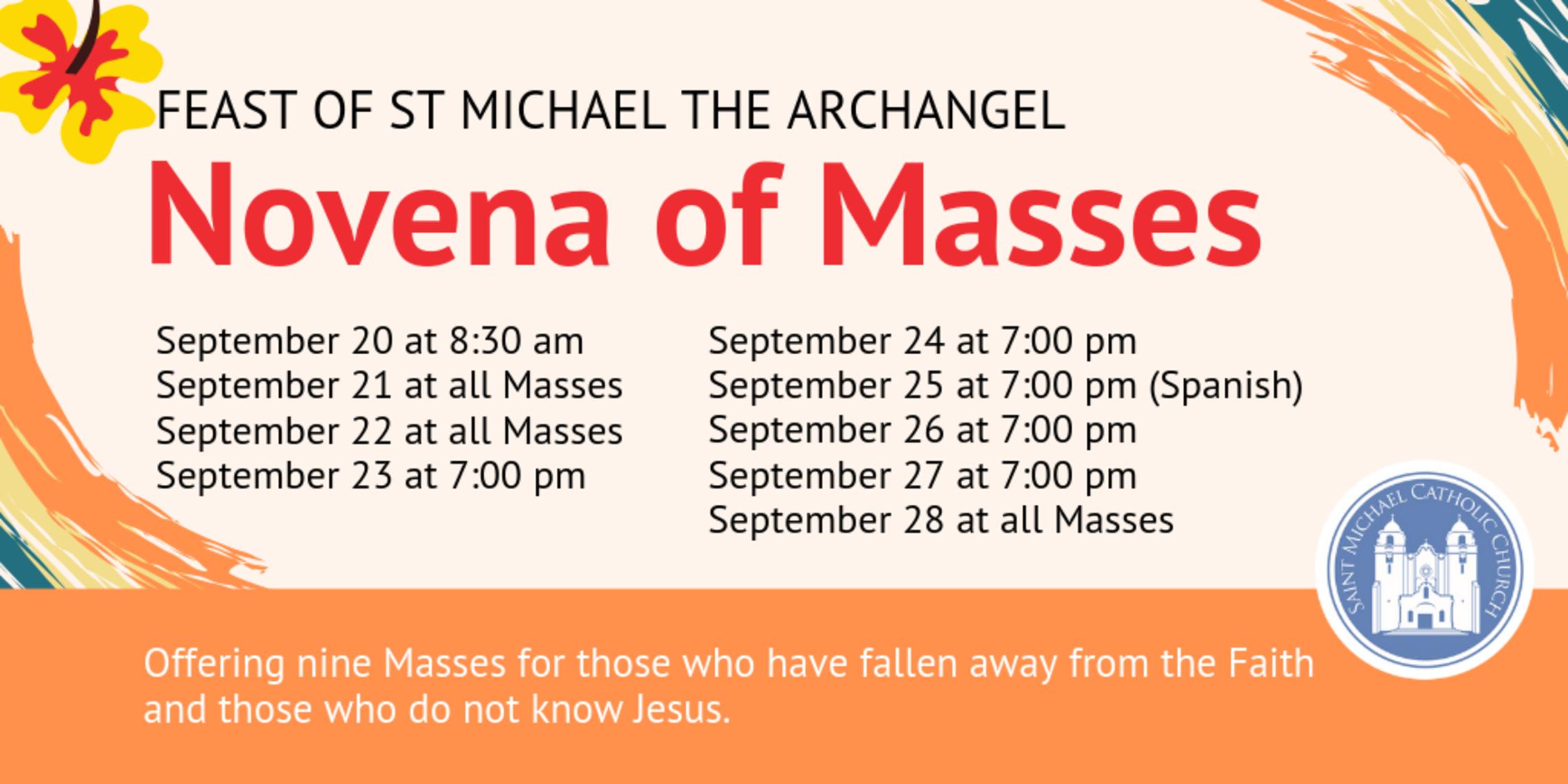 Novena Of Masses revised
