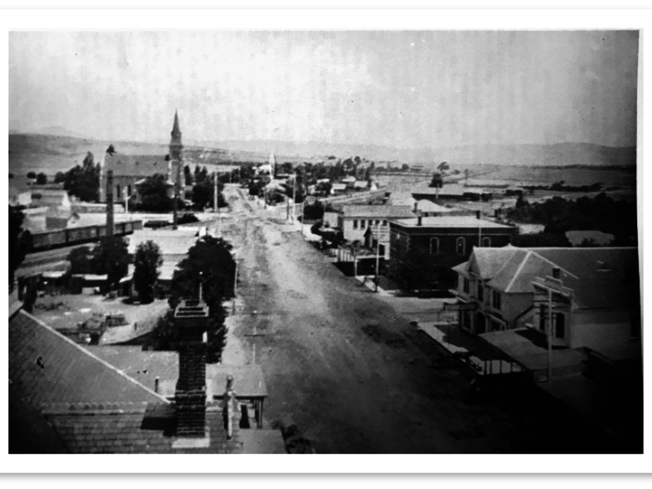 View of First Street 1900's